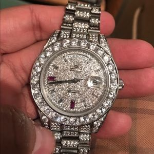 Rolex iced out lab diamonds